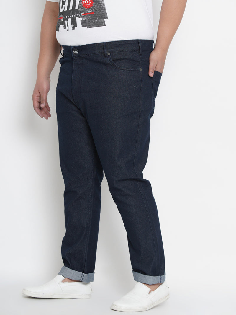 Regular Fit Mid-Rise Stretchable Blue Jeans - 1260C