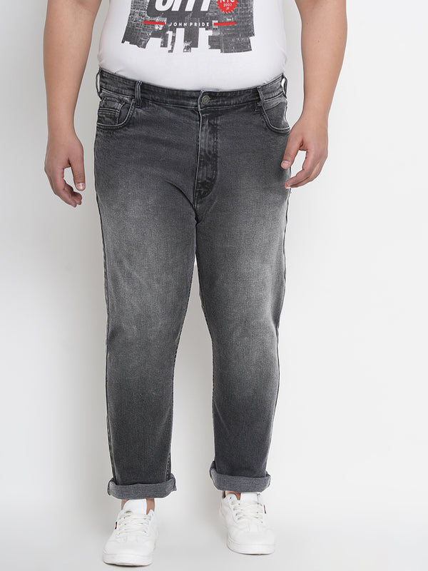Grey Clean Look Smart Fit Stretchable Jeans- 1261A