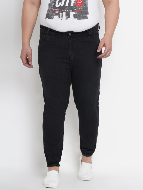Sable Black Stretchable Jogger- 1256