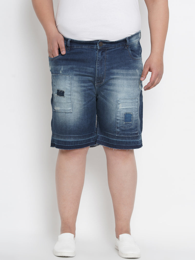 HUNTER DARK BLUE STRETCHABLE SUMMER SHORTS - 6650