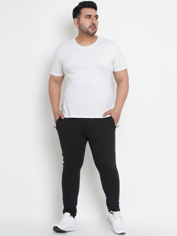 Solid Black Trackpants- 760