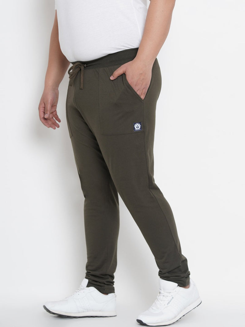 Solid OliveTrackpants- 762A
