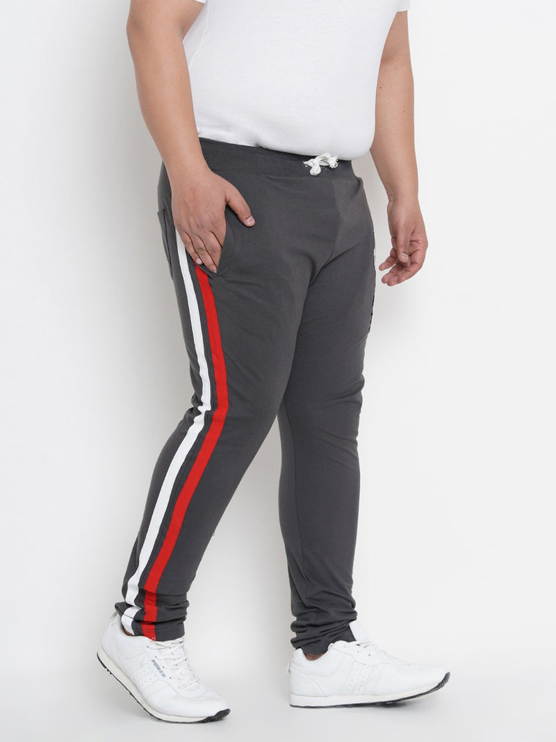 Grey Side Stripes Trackpants- 761