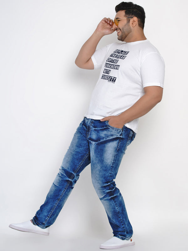 MAGICAL BLUE JEANS WITH STYLISH DESIGN-2540