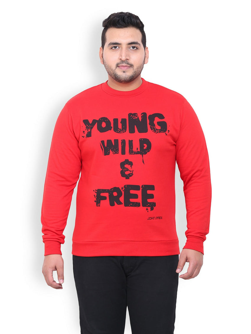 Red Fleece Sweatshirt- 716C