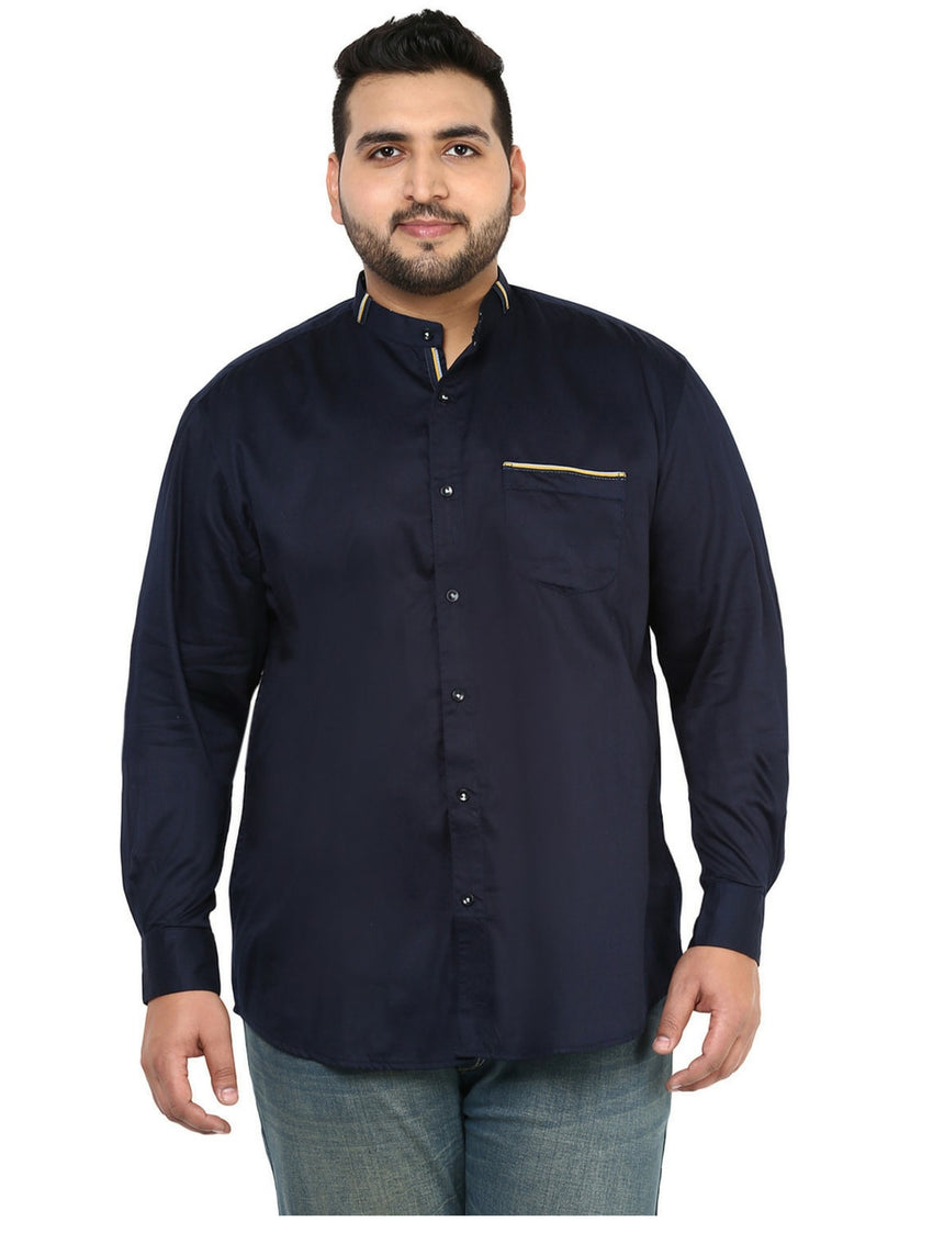 Navy Blue Casual Shirt- 4117A