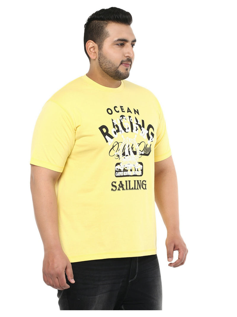 Yellow Solid T-Shirt- 3123B