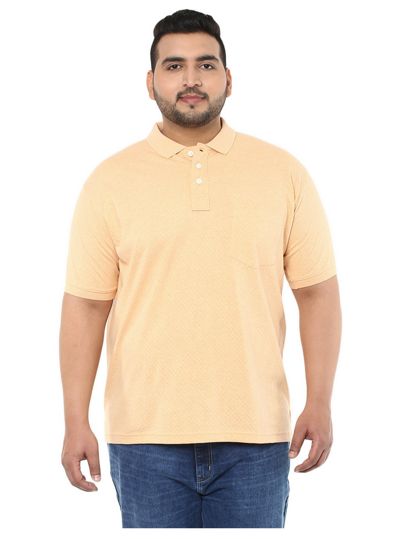 Peach Cotton T-Shirt- 3119A