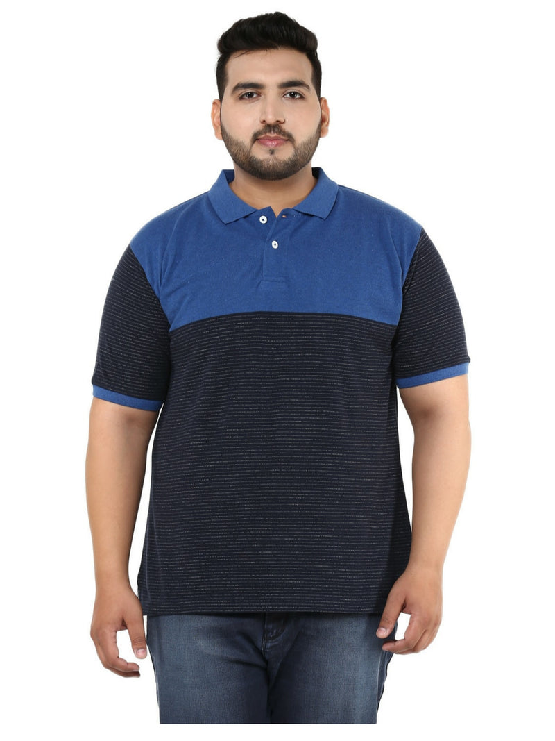 Striped Blue Polo T-Shirt- 3132A