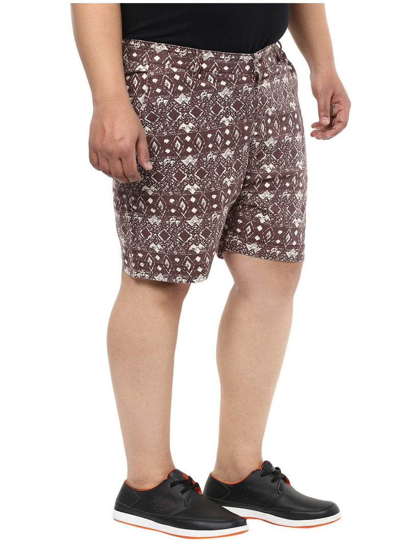 Brown Cotton Shorts- 6603A