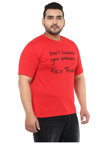 Red Smart Fit T-Shirt- 3124