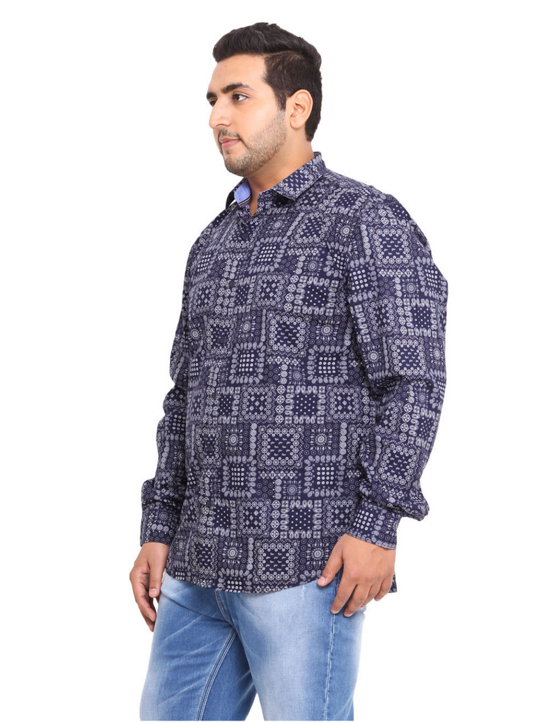 Blue 100% Cotton Shirts