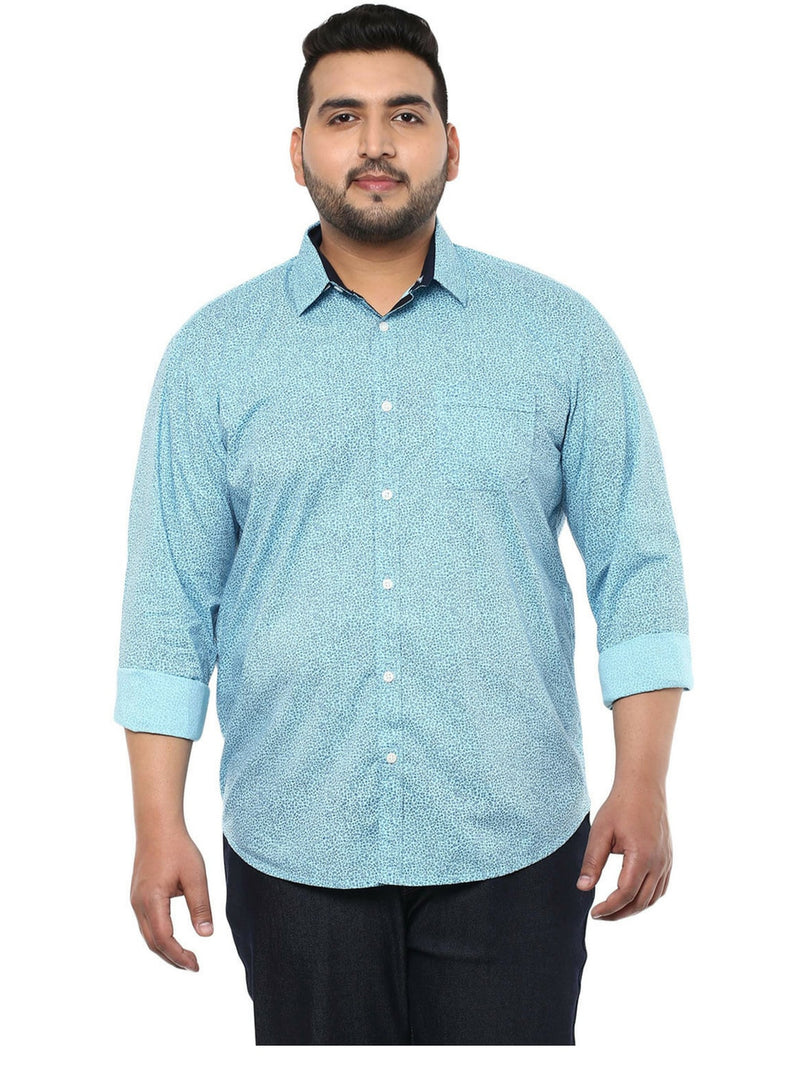 Turquoise Cotton Shirt- 4109A