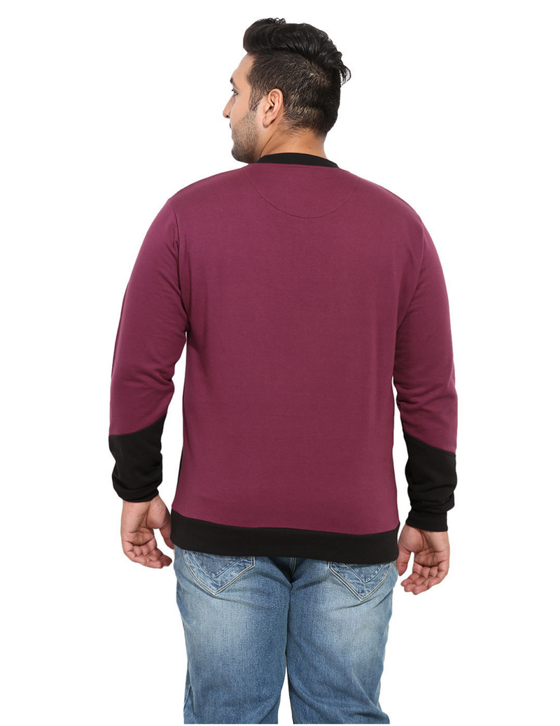 Purple And Black Fleece Sweatshirt