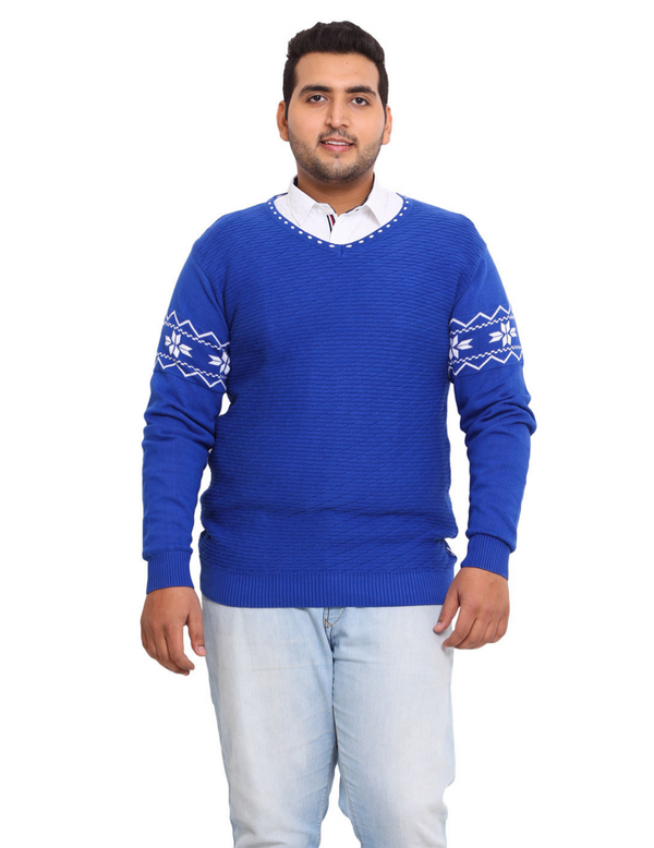 Blue 100% Cotton Sweater