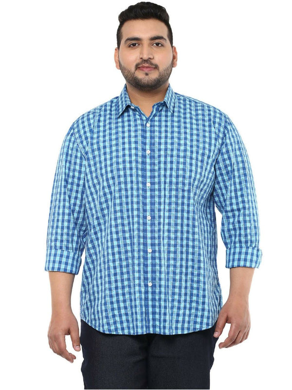 Blue Cotton Shirt- 4113B