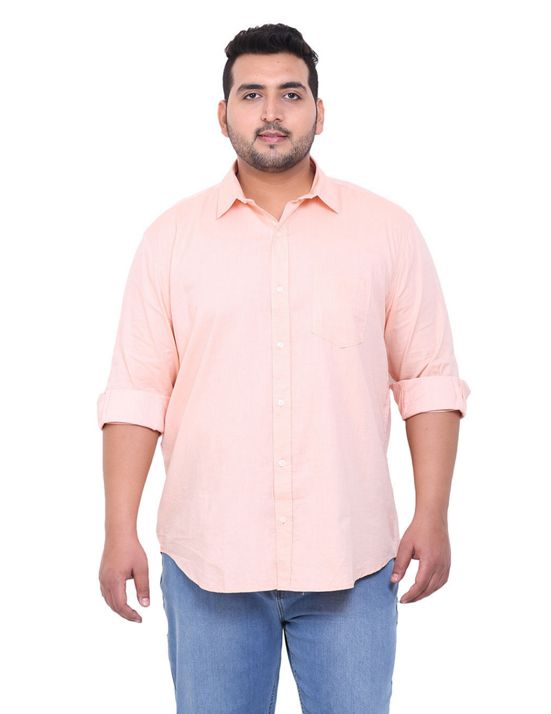 Peach Cotton Shirt- 4104D