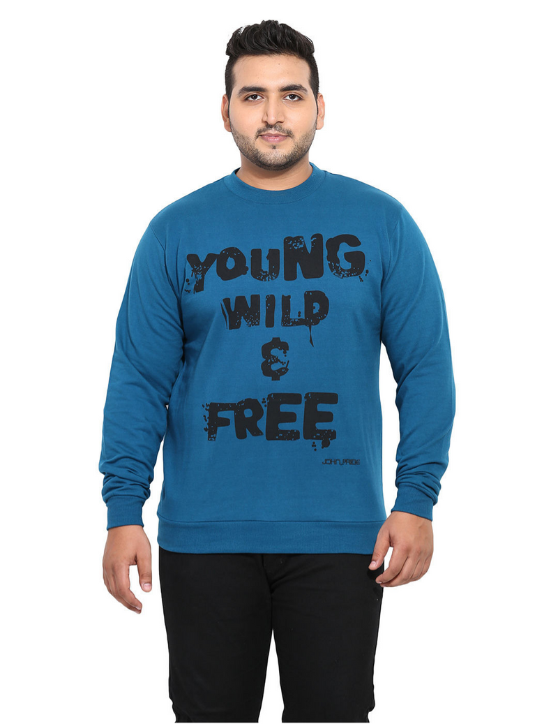 Blue Fleece Sweatshirt