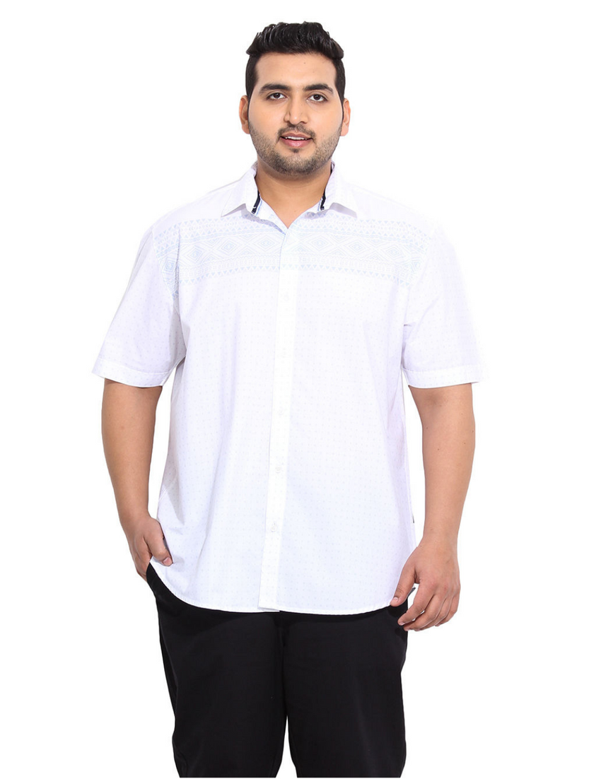 White 100% Cotton Denim Shirt