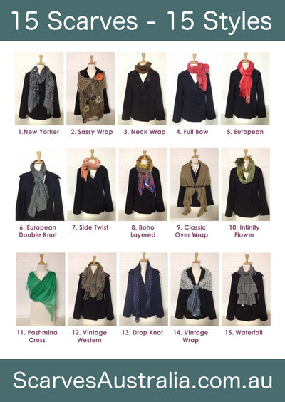 Scarves - How to tie them with flair - 15 Scarves in 15 Styles!