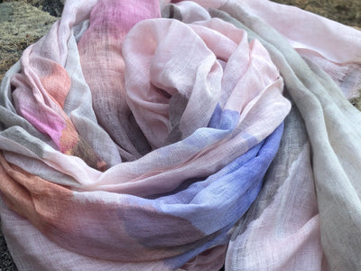 New Range! Cotton linen ombre scarves now available