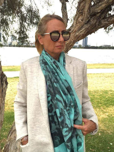 Scarves Australia Fashion Scarves Mint Green Grey Wool Scarf