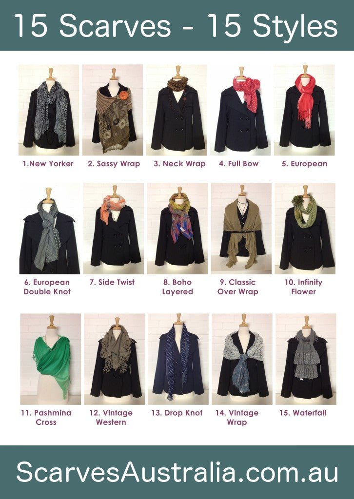 15 Scarves 15 styles