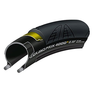 Continental Grand Prix 4000S II Reflex Clincher Road Bicycle Tire (Black/ Reflex - 700 x 25)