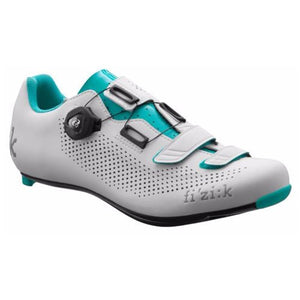 Fizik Women's R4 Donna BOA Road Cycling Shoes, White/Emerald Green, Size 37  White/Emerald Green