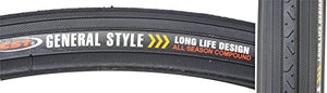 CST C638 HP Wall Wire Bike Tire, Black, 27""