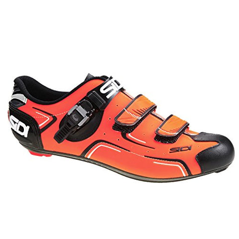 Sidi Level Road Shoes (EU 43, Orange Fluo/Black)