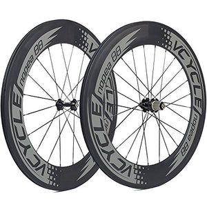 [VCYCLE Nopea] 700C 88mm Road Bike Carbon Wheel Set Clincher for Shimano 8/9/10/11 Speed