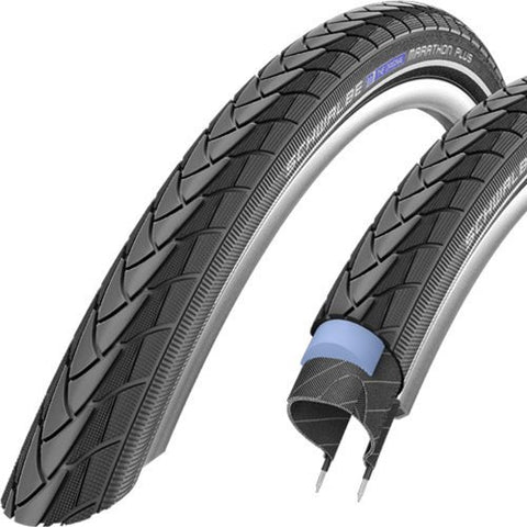 Schwalbe Marathon Plus HS 440 Road Bike Tire (700x25, Allround Wire Beaded, Reflex)
