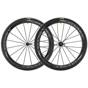 Mavic 2017 Cosmic Pro Carbon Exalith WTS Road Bicycle Wheelset (Black - Pair M-25)