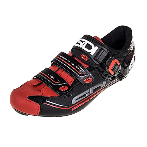 Sidi Genius 7 Road Shoe Black/Red (Eur 42/US 8.25)
