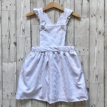 White Embroidered Pinafore