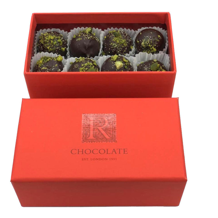 Pistachio Truffles Box of 16
