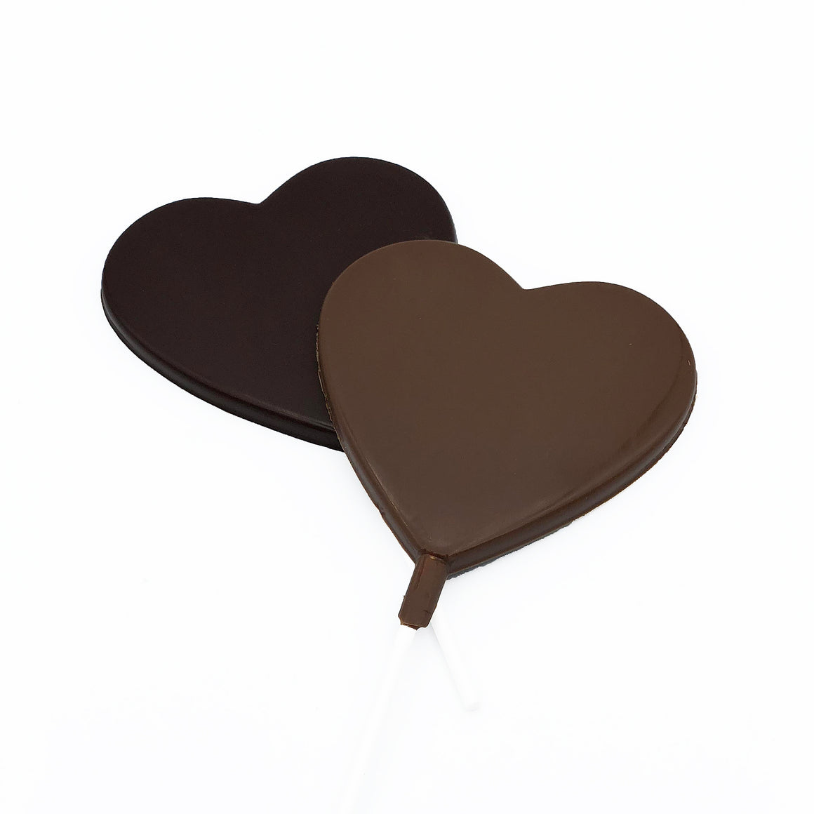 Heart Shaped Chocolate Lollies on a stick