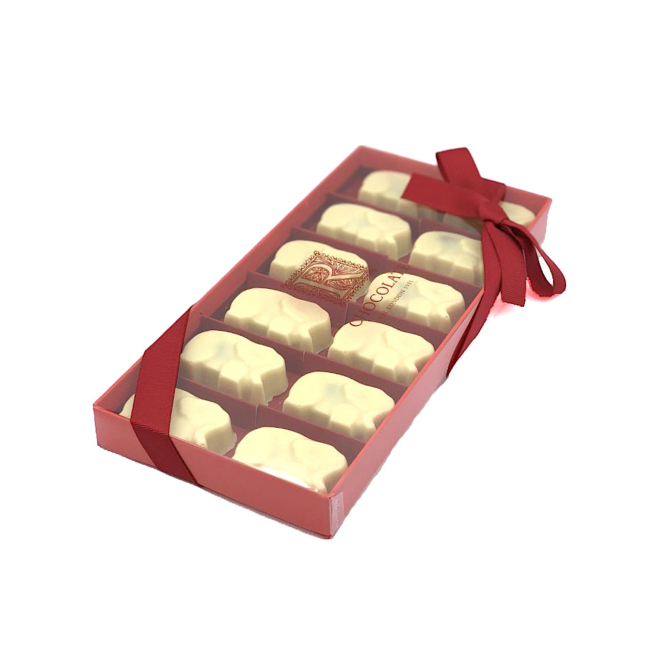 Sea Salt Caramel Elephant – White box of 12