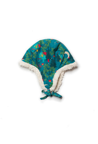 Little Green Radicals Midnight Jungle Sherpa Hat