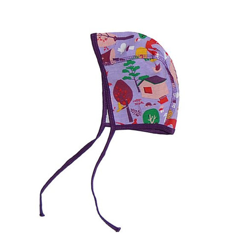 Snoozy Baby Hat purple Forest 3-6m