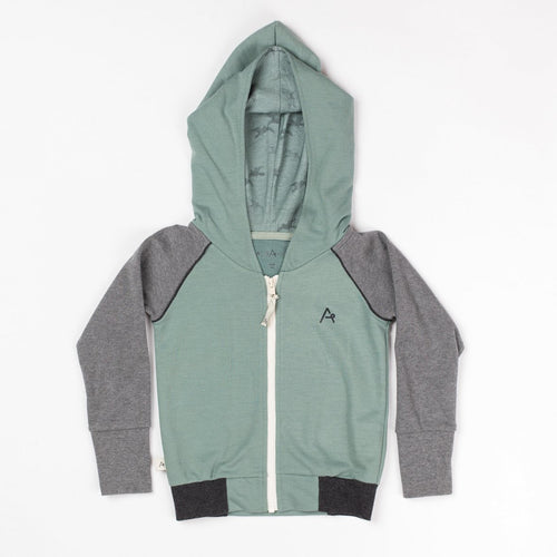 Albababy ADAM Zipper Hood - North Atlantic Melange