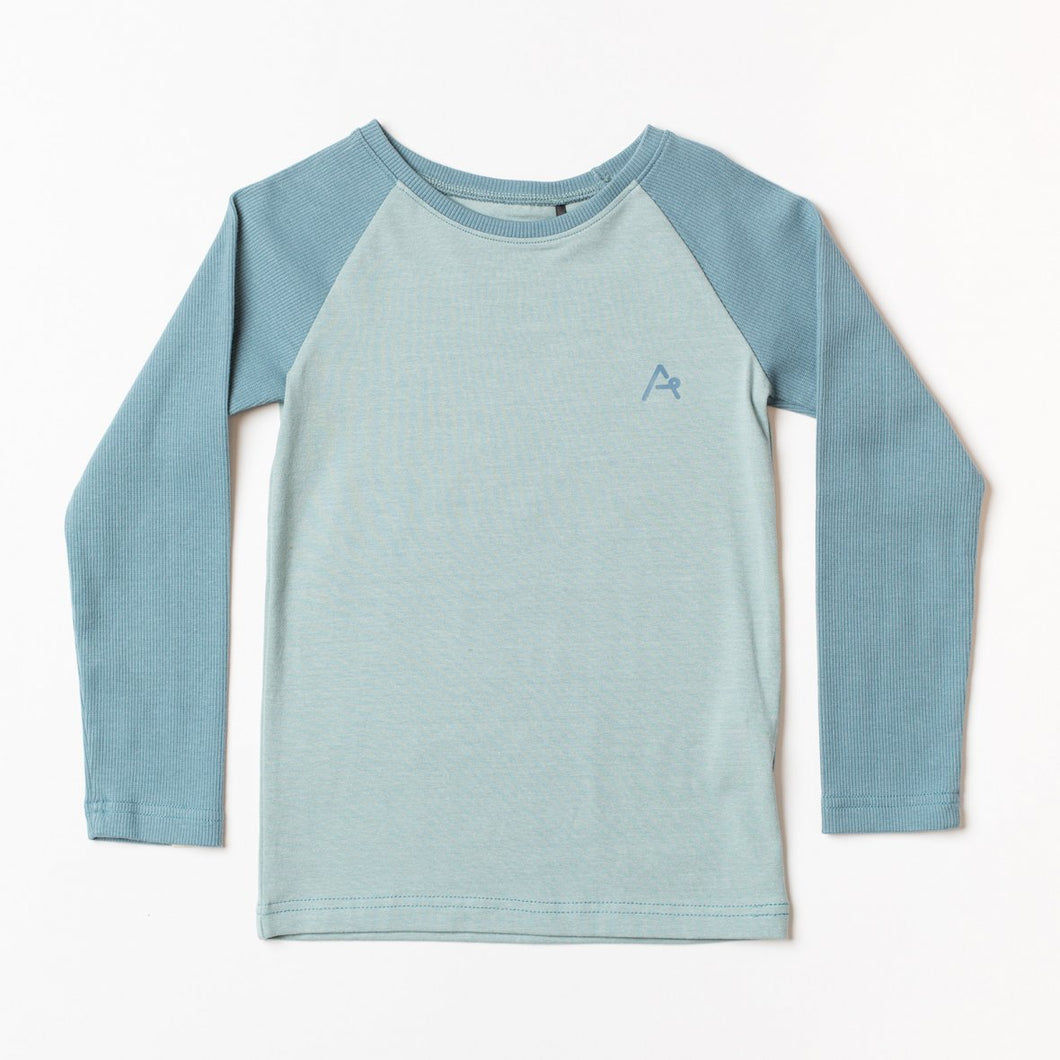 Albababy 'Harwin' Blouse Long Sleeved T Shirt Top - Stone Blue