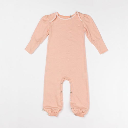 Albababy 'Karoline' Playsuit Dusty Rose Honeycomb