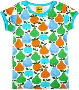 DUNS Summer 2018 | Fruits, Turquoise/ Green| Short Sleeve Top T Shirt
