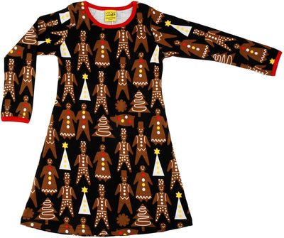 DUNS Christmas Gingerbread Long Sleeved Dress