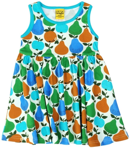 DUNS Summer 2018|Fruits, Turquoise/ Green |Sleeveless Dress w gather skirt