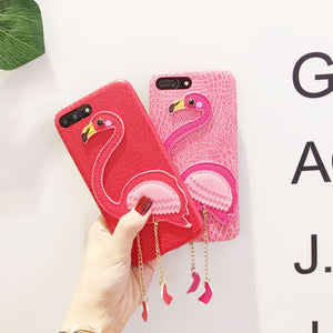 Flamingo Leather Case