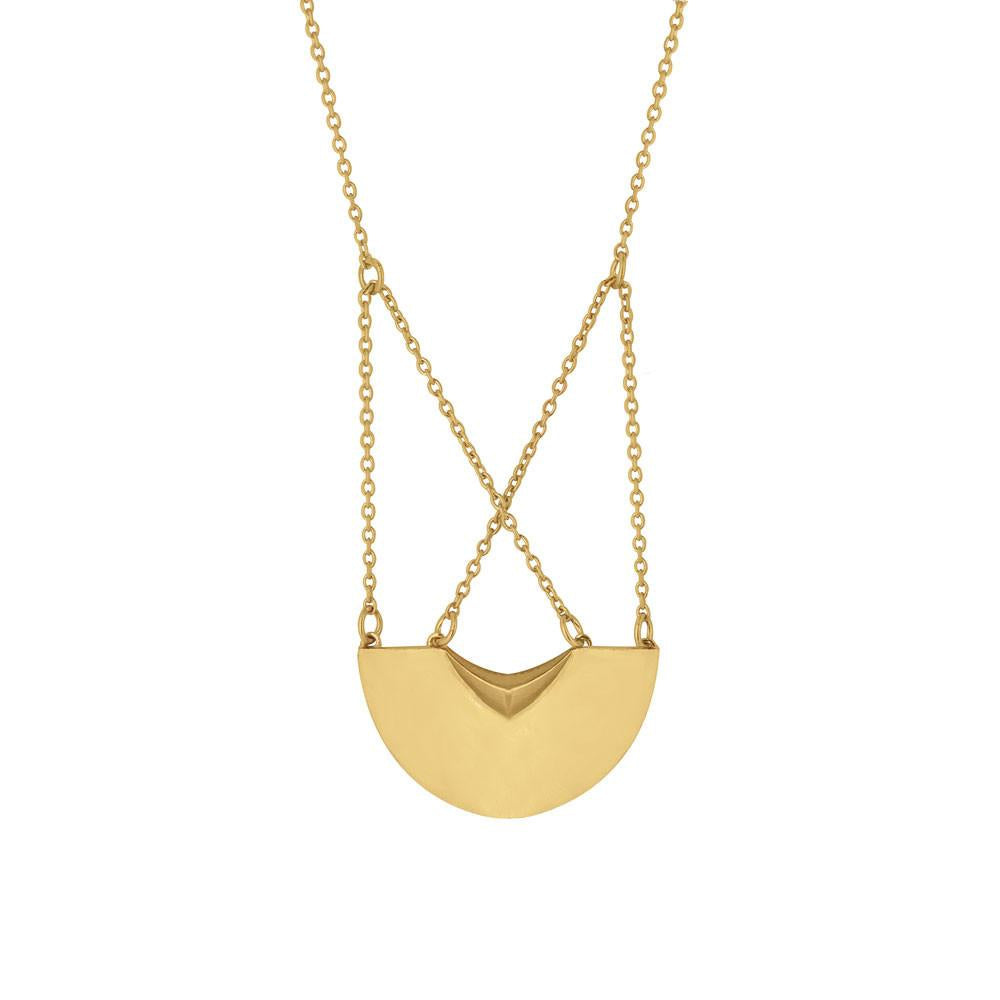 Three Moons Gold Plated Sterling Silver Necklace