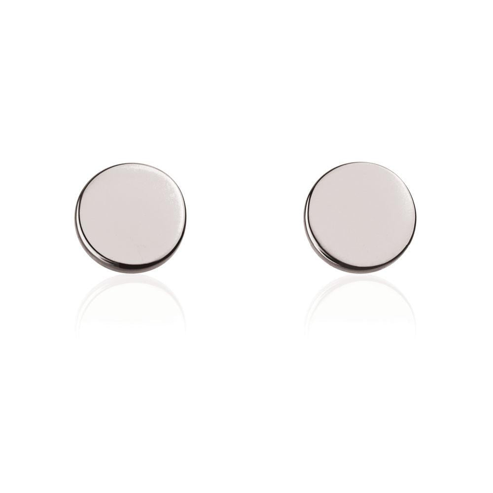 Disc Stud Sterling Silver